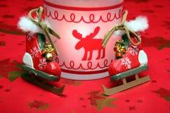 Christmas skates Stock Image