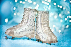 Christmas skates Royalty Free Stock Photography