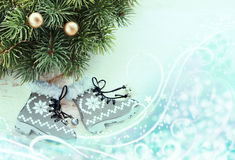 Christmas skates Royalty Free Stock Photos