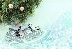 Christmas skates Royalty Free Stock Photos