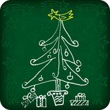 Christmas sketch Stock Photo
