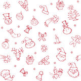 Christmas sketch pattern Royalty Free Stock Image