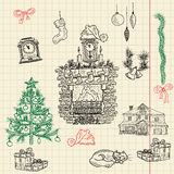 Christmas sketch set for your design Royalty Free Stock Photo
