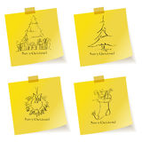 Christmas sketches Royalty Free Stock Images