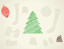 Christmas sketchy icons Stock Photography