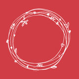 Christmas sketchy set. EPS 10. No transparency. Christmas elements, christmas frame Stock Images