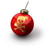 Christmas Skull Royalty Free Stock Image