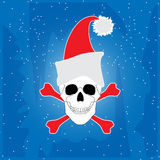 Christmas skull Royalty Free Stock Photography