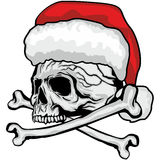 Christmas skull Stock Photos