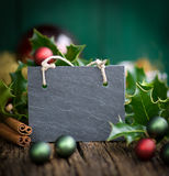 Christmas slate Stock Images