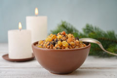 Christmas slavic dish kutia Stock Images