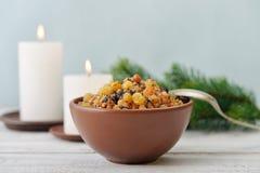 Christmas slavic dish kutia Stock Photo