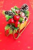 Christmas sled Stock Image