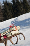 Christmas sled Royalty Free Stock Photos