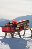 Christmas sled Stock Images