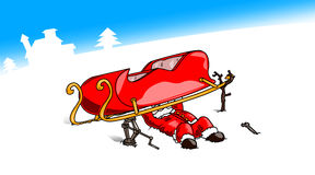 Christmas-Sled-Mechanic Stock Photo