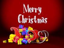 Christmas sledge Stock Photos