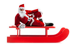 Christmas sledge with Santa Claus Stock Photography