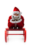 Christmas sledge with Santa Claus Royalty Free Stock Photography