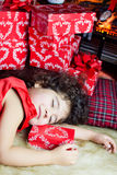 Christmas sleep Royalty Free Stock Photo