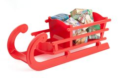 Christmas sleigh royalty free stock images