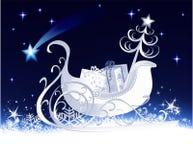 Christmas sleigh royalty free illustration