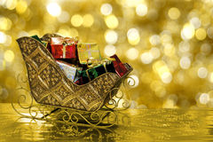 Christmas sleigh Stock Photos