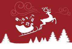 Christmas sleigh stock illustration