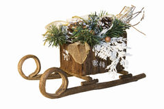 Christmas sleigh Stock Photos