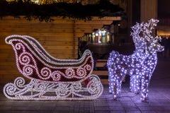 Christmas sleigh Stock Photo
