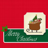 Christmas sleigh with gifts Royalty Free Stock Photos