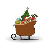 Christmas sleigh with gifts Royalty Free Stock Images