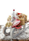 Christmas sleigh with gifts. Royalty Free Stock Image