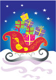 Christmas sleigh with gifts Royalty Free Stock Image