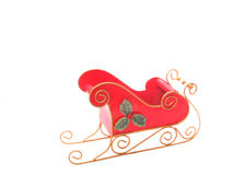 Christmas Sleigh over white Stock Photography