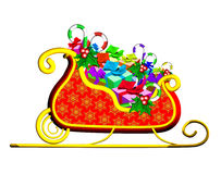 Christmas Sleigh with Presents Royalty Free Stock Images