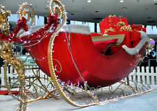 Christmas sleigh with  presents Royalty Free Stock Photo