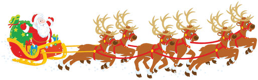 Christmas Sleigh of Santa Claus Royalty Free Stock Image