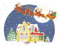 Christmas Sleigh of Santa Claus Royalty Free Stock Images