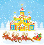 Christmas Sleigh of Santa royalty free stock photography