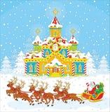 Christmas Sleigh of Santa Stock Photo