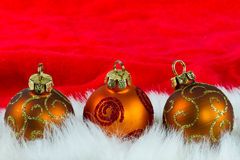 Christmas small baubles Stock Photography