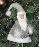 Christmas toy silver Santa Claus Royalty Free Stock Images