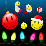 Christmas smiley cartoon collection Stock Images