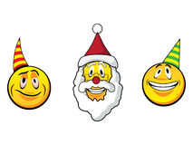 Christmas Smiley faces Stock Image