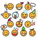 Christmas smileys stock image