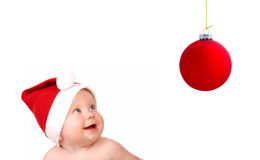 Christmas smiling baby Royalty Free Stock Photo