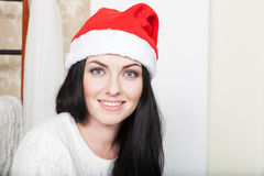 Christmas-Smiling woman. Beautiful Happy woman Royalty Free Stock Images