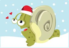 Christmas Snail Royalty Free Stock Images