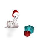 Christmas snail Stock Photos